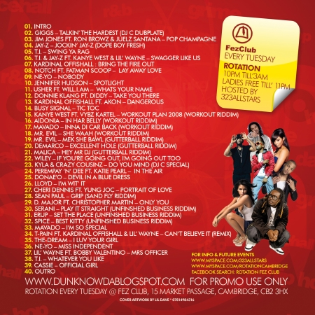 Rotation CD Cover (Back)
