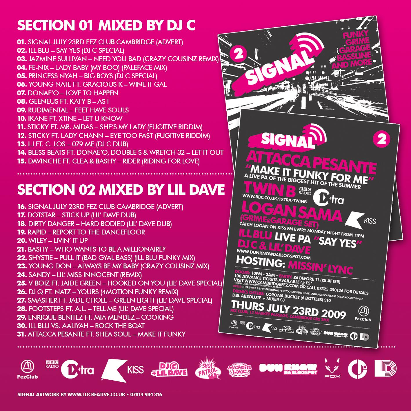 Radio Signal 2 Tracklisting
